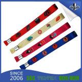 Wristband tessuto tessuto promozionale su ordinazione di festival del regalo