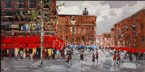 Pintura al óleo moderna pintura del paisaje pintura decorativa