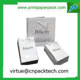 Bolsa de papel Kraft Reciclado de lujo con logo Imprimir para tiendas de ropa de deportes