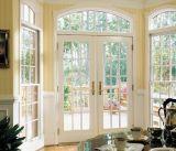 Woodwin último diseño de doble vidrio templado de aluminio ventana francesa
