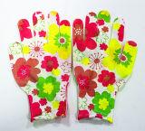 Цветок Sanjian популярный напечатал перчатки поставленные точки работой