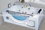 BALNEARIO de la bañera del masaje del rectángulo de 1700m m con el vidrio lateral para la sola persona (AT-9812)
