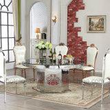 Cadeira moderna da sala de jantar com o rei Trono do aço inoxidável do ouro