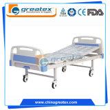 Preiswerte Ausrüstungs-einfaches flaches Krankenhaus-Bett