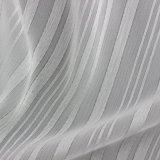 Tela rayada del poliester del lustre metálico para la ropa en verano