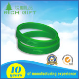 Promoção Custom Soft Rubber Printed Glow in The Dark Silicone Wristband Bracelets with Logo