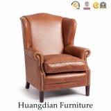 De vuelta ala acento silla sillón de cuero (HD535)