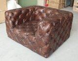 Antikes Tasten-Sofa mit Armlehne, grosses einzelnes Sofa