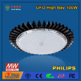 Pas 100W de LEIDENE van het UFO Hoge Verlichting van de Baai met de Dekking van PC aan