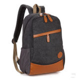 Sac de sac à dos d'ordinateur portatif de toile de loisirs, sac de déplacement de sac à dos d'école