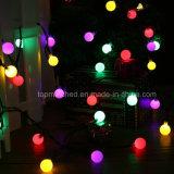 Kugel-Kugel-Zeichenkette beleuchtet angeschaltenes Weihnachtslicht-dekoratives Zeichenkette-Solarlicht für Hausgarten-Patio-Rasen-Partei-Dekorationen