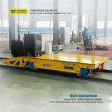Chariot lourd de transfert à cargaison de véhicule plat de longeron d'entrepôt