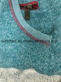 Cappotto 100% del sudore del cotone dell'azzurro del pavone Hoody per gli uomini