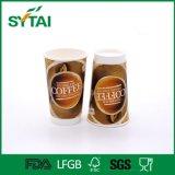 Tazza di caffè di carta doppia a gettare stampata abitudine