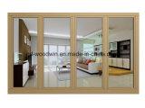 Woodwin Guangdong corrediço de porta de vidro duplo de alumínio