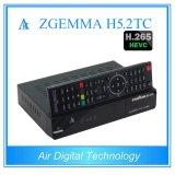 Potentes CPUS executando Zgemma H5.2tc Receptor Combo HDTV SO Linux E2 Hevc/H. 265 DVB-S2+2*DVB-T2/C sintonizadores duplos