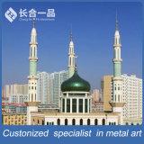 De cobre modificada para requisitos particulares el Minar superior de la mezquita para el contador de los musulmanes/del relámpago