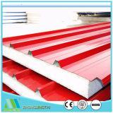 Comitato di parete d'acciaio del panino di Rockwool/Glasswool/EPS di colore per la struttura d'acciaio