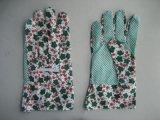 Gant de jardin en coton à poitrine tricotée en PVC léger (2620)
