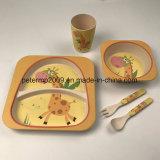 Eco Friendly 5 pièces Ensemble de vaisselle pour bambous en fibre de bambou