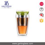 Kop de van uitstekende kwaliteit van de Thee van het Glas 450ml met Roestvrij staal en Deksel gb540070450-1