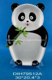 Piatto di ceramica dipinto a mano del panda per la decorazione hotel/della casa