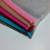Sac en caoutchouc transparent personnalisé en PVC à fermeture à glissière