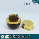 vaso di vetro colorato 20g per Eyecream