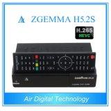 Melhor Venda quente H. 265/Hevc DVB-S2+S2 Twin Sintonizadores Sat Zgemma H5.2s SO Linux Dual Core E2 Receptor Digital