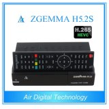 Meilleur Hot Sale H. 265 / Hevc DVB-S2 + S2 Twin Sat Tuners Zgemma H5.2s Dual Core Linux OS E2 Digital Receiver