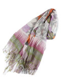 Fashion 100% acrylique Lady foulard imprimé