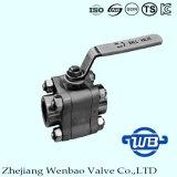 3PC haute pression de clapet à bille en acier forgé pour tuyau de l'industrie