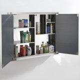 Шкафы для картотеки зеркала нержавеющей стали самомоднейшей конструкции с 2 дверями зеркала