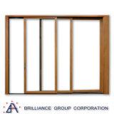 Стандартная алюминиевая раздвижная дверь As2047 с двойным стеклом