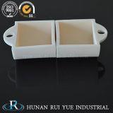Crisol de cerámica del barco del alúmina de la pureza elevada 99-99.7% rectangulares de la dimensión de una variable