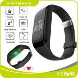 Relógio ardente de Bluetooth do podómetro do monitor da caloria do monitor do sono do monitor da frequência cardíaca da tecla do toque