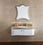 Governo di vanità della stanza da bagno della mobilia dell'acciaio inossidabile del fornitore di Foshan (T-077)