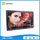 Тонкая картинная рамка конструкции 17-Inch цифров с видеоим петли MP3 MP4 фотоего