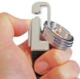Corrente chave de couro portátil da forma com 4 anéis