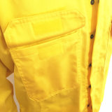 Саржа из 100% хлопка оранжевый серо-голубой печатной фабрики Workwear