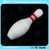 Movimentação feita sob encomenda do flash do USB da forma do bowling do PVC (ZYF5046)