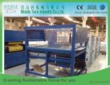 Perfil do indicador da madeira (WPC) PVC-PE/placa do teto/máquina plásticos da extrusão da produção borda de borda/da tubulação painel da porta