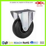 Roda industrial de borracha preta do rodízio (P101-31D075X25S)