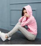 Женщины длиннего пробела спортов втулки CVC80/20 холодные тонкие розовые промелькивают вверх Hoodies
