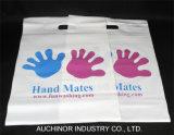Bolsas de plástico de baja densidad de colores Compras la bolsa de mango troqueladas de mercancías