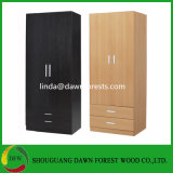 Türen der Melamin-Spanplatten-2 und 2 Fächer passten Garderobe an