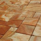 Mosaico colorido del Onyx, piedra de mármol cuadrada, azulejo de la pared