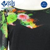 Высокое качество одежды женщин моды цветочным рисунком печать гильзы летней одежды