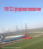 Torretta della trasmissione di tensionamento di profilato leggero di Megatro 110kv 1c2 J1