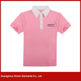 Camice di polo personalizzate del cotone per le donne (P177)